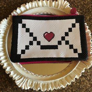 Ipsy Heart on Envelope Design Makeup or Gift Bag